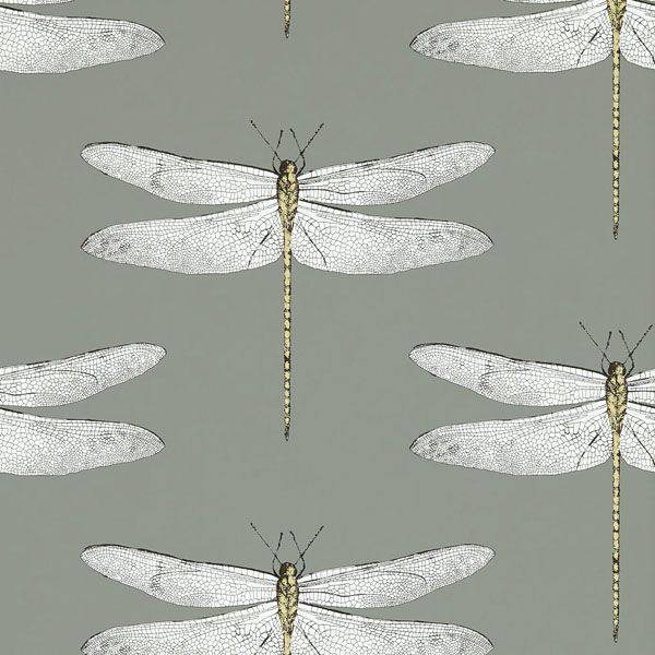 Harlequin Demoiselle Wallpaper - Graphite/Almond 111242