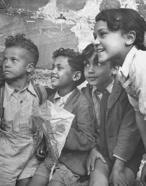 South African children on the streets of District 6. Photograph by Nat Farbman. Capetown, South Africa, November 1946.