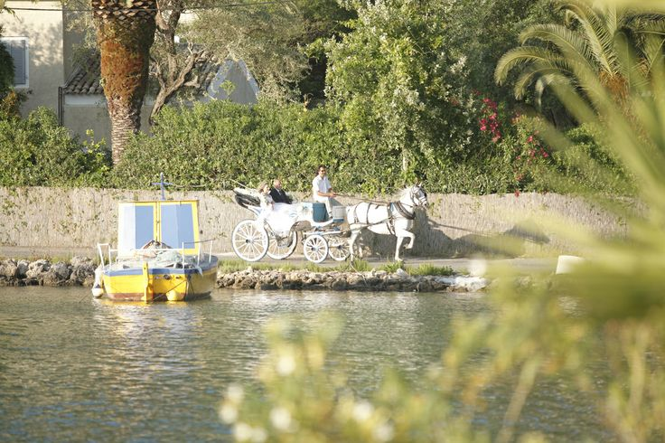 Romantic bridal transfer  Keyhole View: Sounds of horse gallop mixed with the sea breeze.