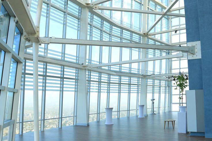 Vista interna do observatório Sky Costanera Center