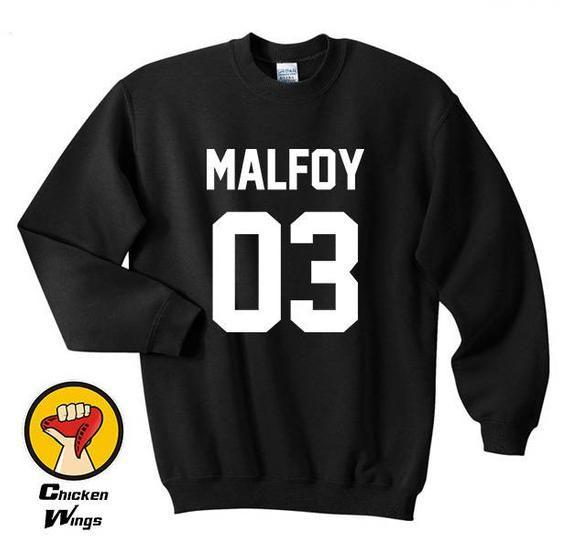 0c5e71ff532f7 Malfoy 03 House of Slytherin Tumblr Magic Fashion shirt Top Crewneck  Sweatshirt Unisex More Colors X