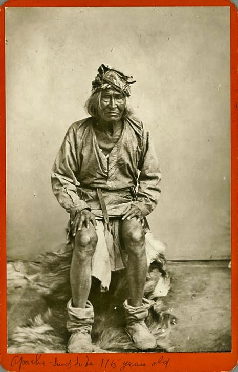 116 year old Apache Man. Born in 1765.   Mozart was alive and composing his masterpieces.