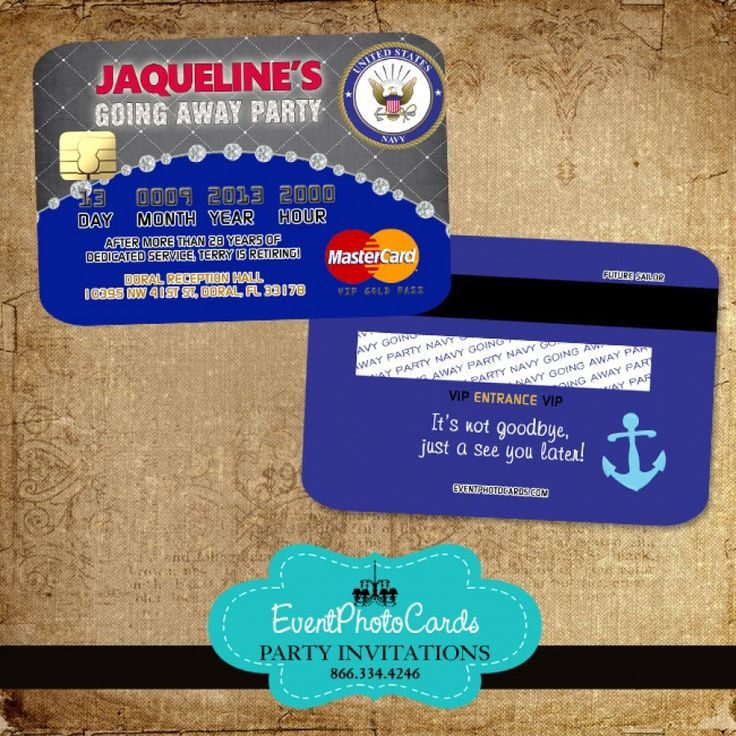21 best Credit Card Invitations images on Pinterest | Events ...