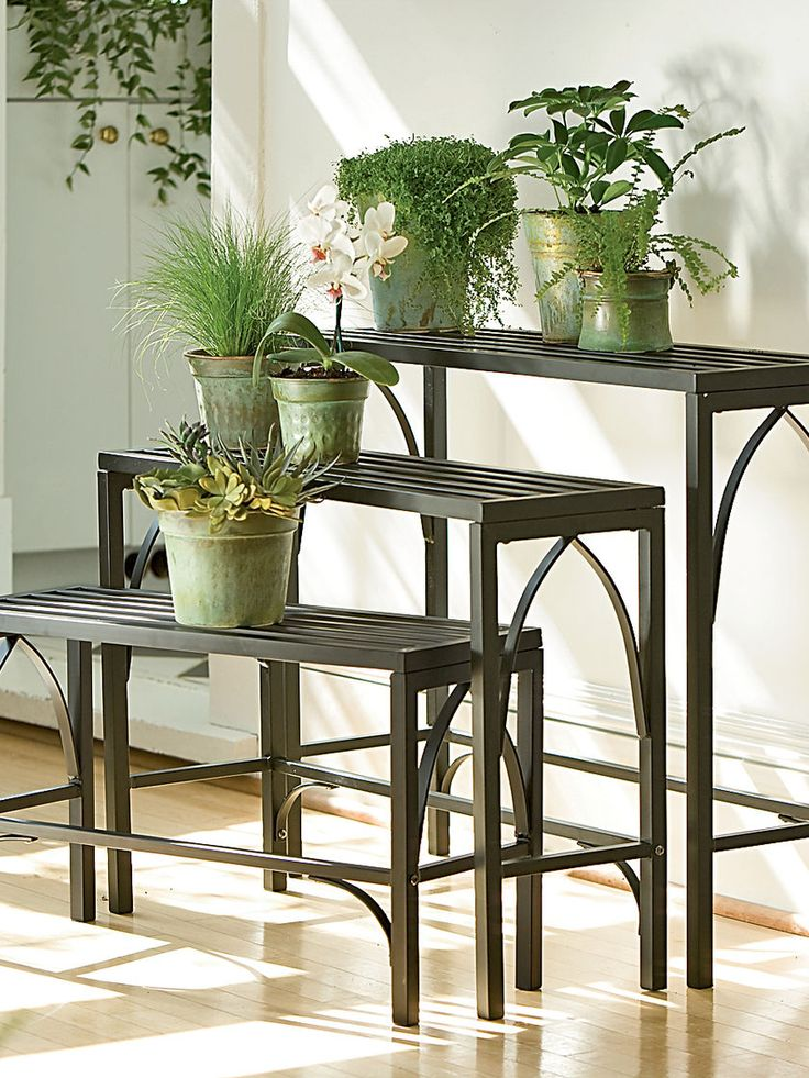 Plant Stand Trio | Three Nesting Plant Stands | Gardener's Supply