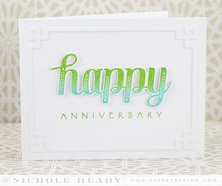 Happy Anniversary Card by Nichole Heady for Papertrey Ink (March 2014)
