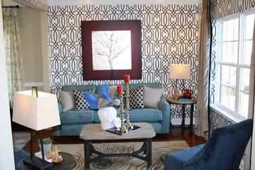 Orange Colour Accents - contemporary - living room - dublin - Optimise Design