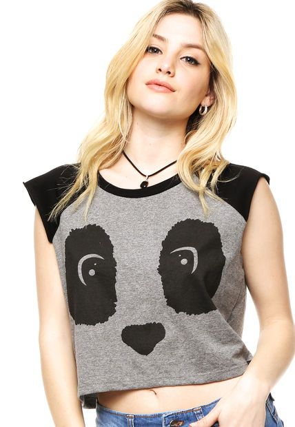 Musculosa Gris 47 Street Panda                                                                                                                                                                                 Más