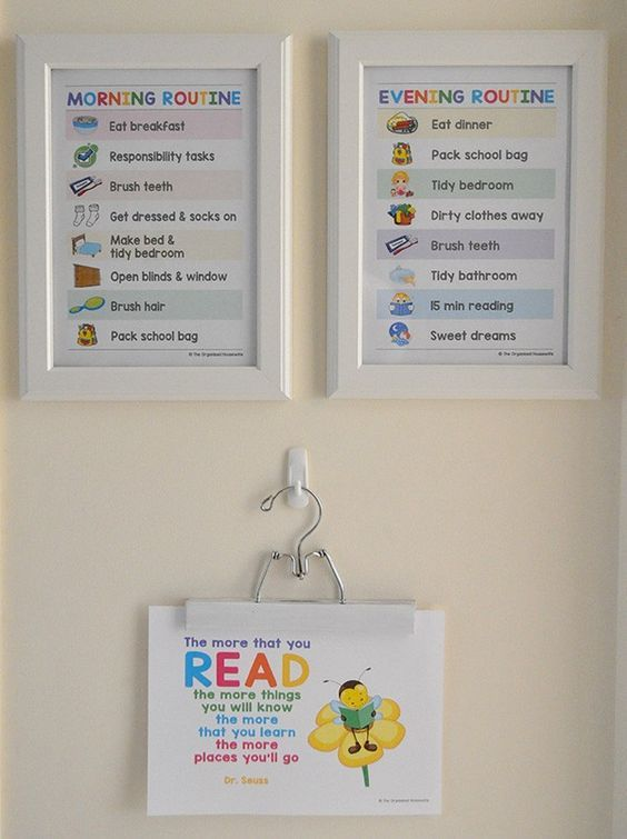 Morning Routine Chart for kids and how to get ready for back-to-school