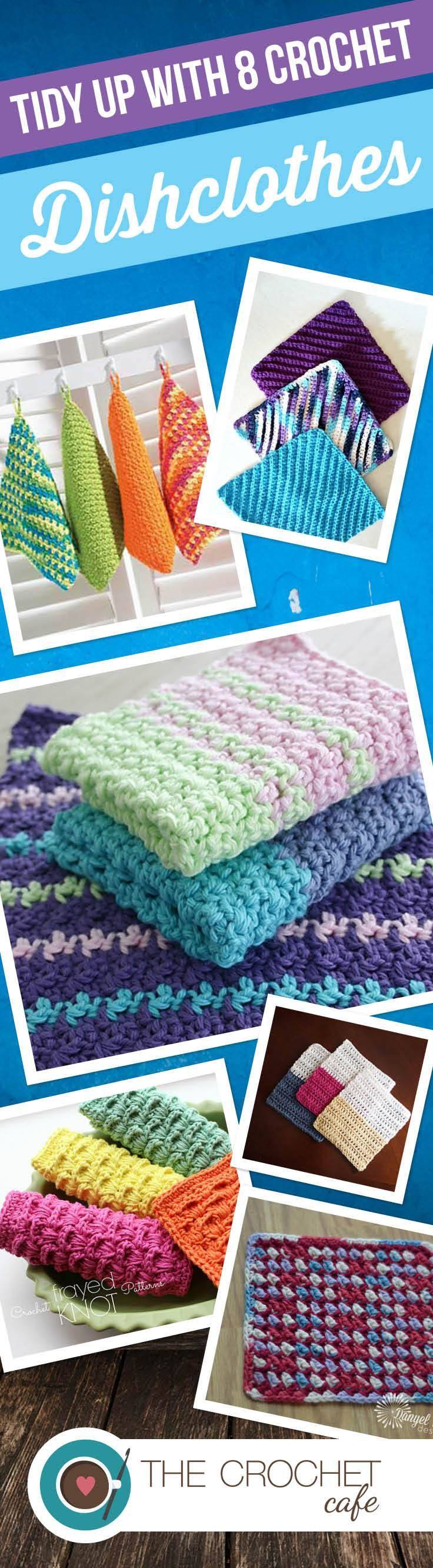 Tidy up with 8 Crochet Dishclothes (Pinterest)