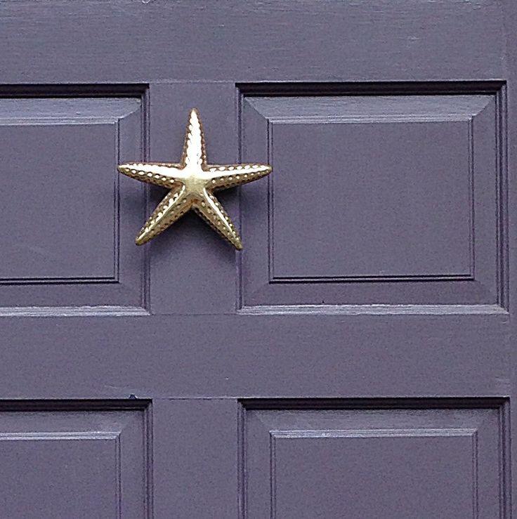 Brass starfish door knocker