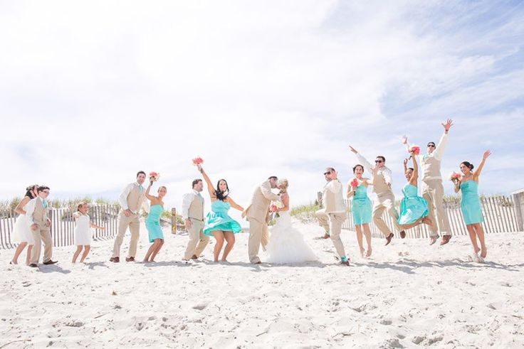 Julia and Ryan's Beach Chic Wedding – New Jersey Bride