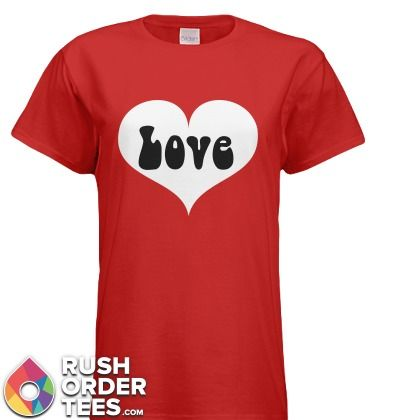 """Love Heart Valentine 100% preshrunk cotton; Ash Grey is 99/1; Antique (Cherry Red, Irish Green, Royal) and Sport Grey are 90/10; Dark Heather, Heather (Cardinal, Indigo, Navy, Sapphire) are 50/50; Safety (Green, Pink and Orange) are 50/50; taped shoulder-to-shoulder; double-needle stitching throughout; narrow ?"""" ribbed neck; feminine fit;"""