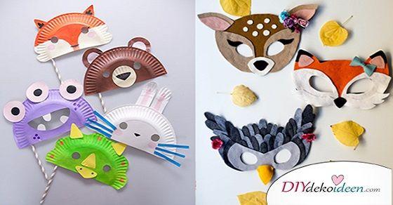 Diese DIY Ideen für Faschingsmasken werden deine Kinder begeistern.  Fasching ist das bunteste Fest des Jahres und wäre ohne Kinderlachen nicht dasselbe. Da