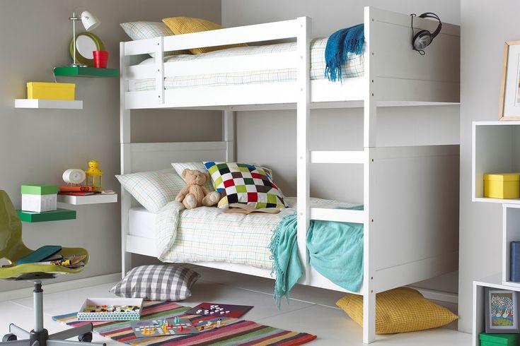 Hyder Oliver White Wooden Bunk Bed
