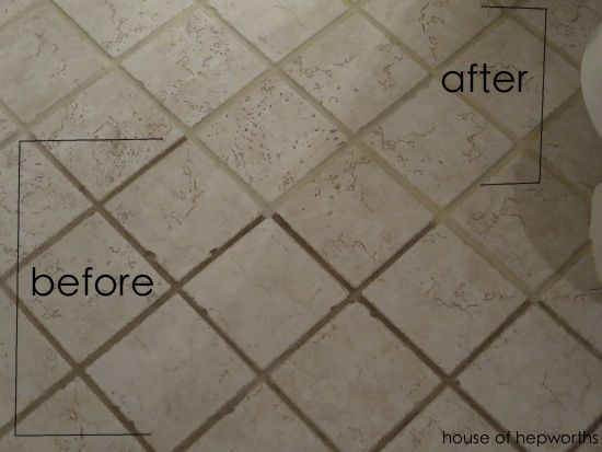 The dirty grout miracle cure - an easy and cheap way to update disgusting grout and make it look brand new again! www.houseofhepworths.com