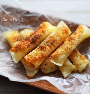 餃子の皮でパリパリチーズ焼き