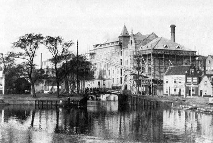 Amsterdam, Westerdok gezien naar Zandhoek / Zoutkeetsgracht /Bokkinghangen 1895