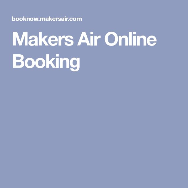 Makers Air On-line Reserving