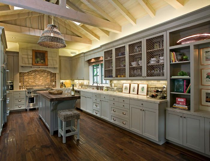 French Country Kitchen Cabinets Classic Grey Kitchen