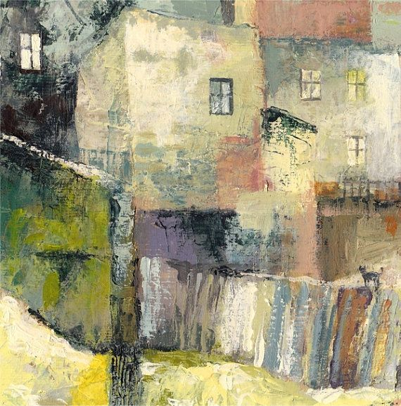 Rear Tenements,  Fine Art GICLEE PRINT after an original painting by Milena Gawlik
