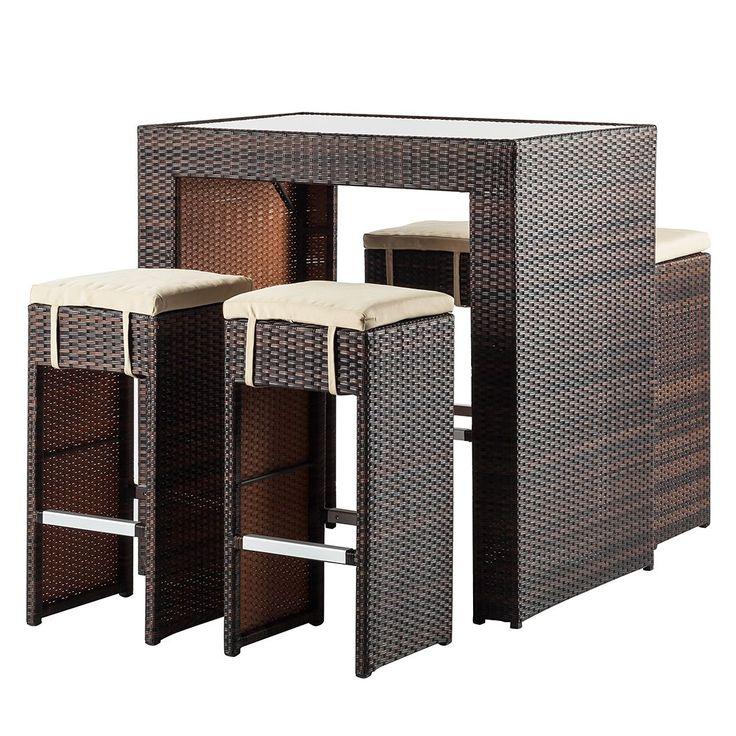 Gartenbar-Set Paradise Lounge (5-teilig) - Polyrattan Braun, Fredriks Jetzt bestellen unter: https://moebel.ladendirekt.de/garten/gartenmoebel/gartenmoebel-set/?uid=1779734a-87cb-5ca9-afcb-9bdea6cce788&utm_source=pinterest&utm_medium=pin&utm_campaign=boards #fredriks #garten #gartenmoebel #gartenmoebelset #gartenmöbel #loungemöbel