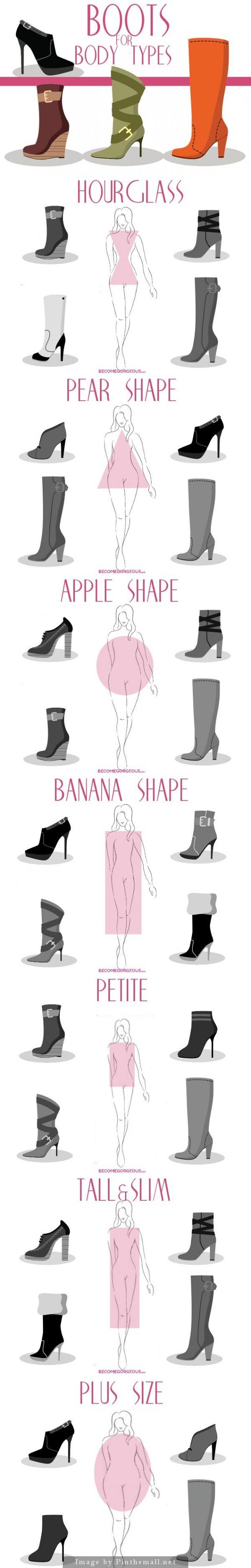 El otoño esta aqui, elige las botas de acuerdoa tu tipo de silueta. #boots #shape #fall