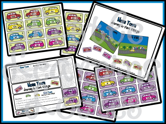 Limited Time #Homeschool Freebie: Noun Town - Journey To Verb Village Game (Save 5.75!) *Expires 1/23*
