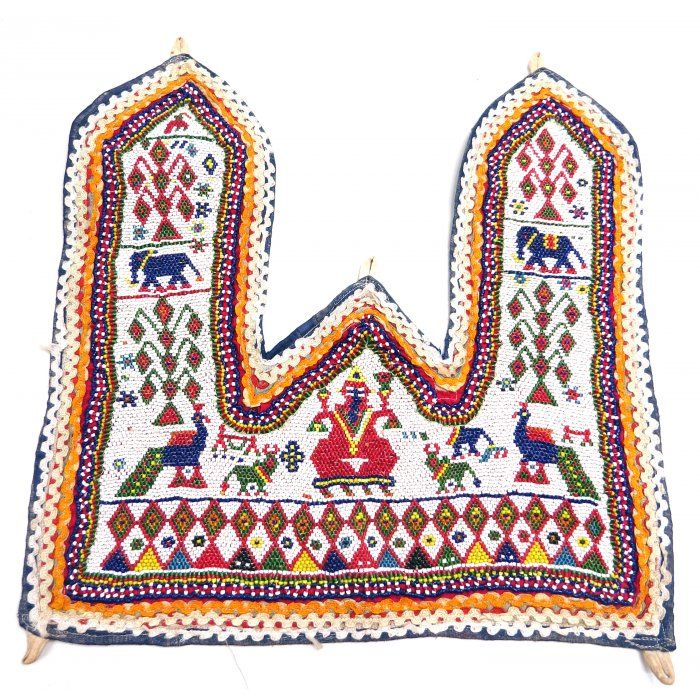 Beaded Ganesha Toran | Indian textiles