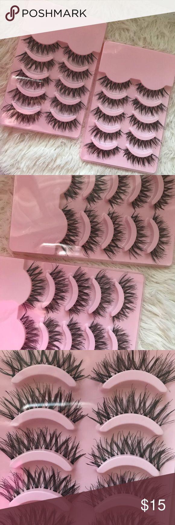 Wispy Lashes 10 Pairs BACK IN STOCK ❣️   # tags Iconic, mink, red cherry eyelashes, house of lashes, doll, kawaii, case, full, natural,  Koko, Ardell, wispies, Demi , makeup, mascara, eyelash applicator, tweezer  +$2 eyelash Applicator  +$3 eyelash glue Makeup False Eyelashes