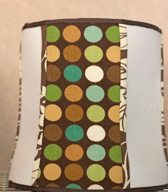 Handmade Cylinder Polka Dot Lamp Shade - High Quality Fabric Lamp Shade - Unique Lamp Shades and Retro Lamp Shades
