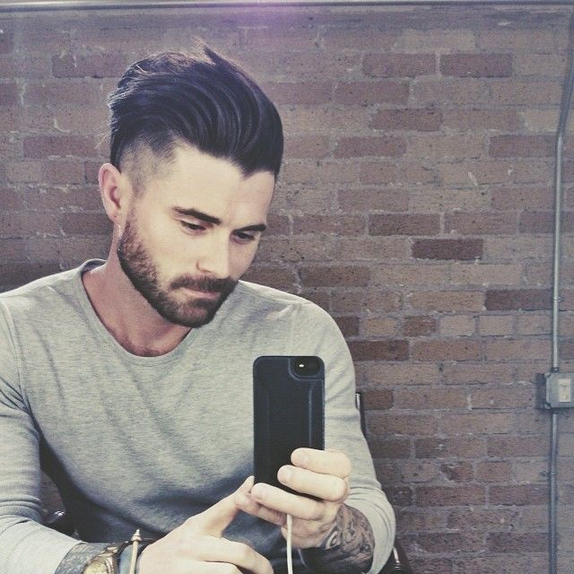 Perfect hair cut, perfect beard. Kyle Krieger