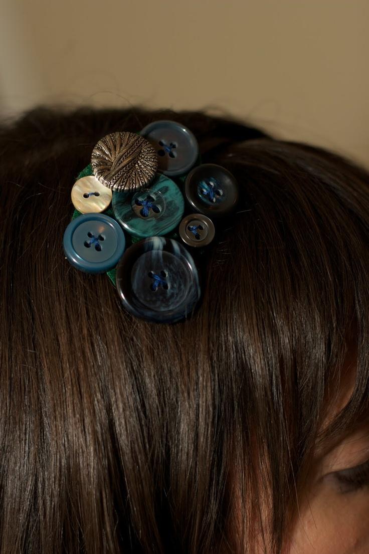 Button Hair Accessories