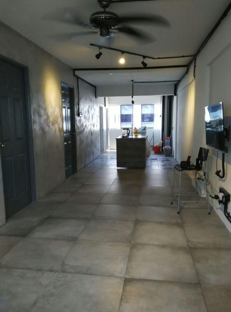 Retiling 3-bedroom apartment @ Block 263 Waterloo Street