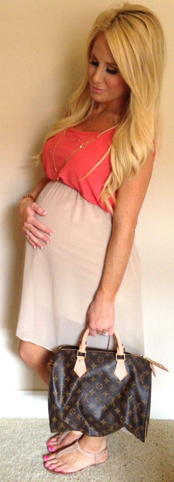 The Sweet Little Southern Charm by Tara Miller: All Things Pregnancy & Baby dress 31 weeks pregnant pregnancy style fashion