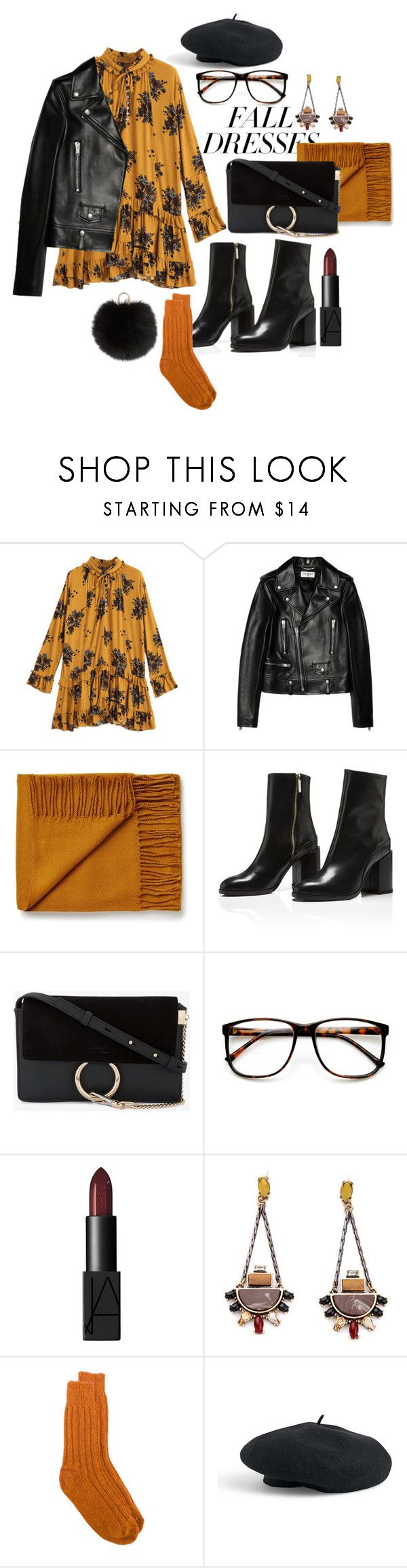 """fall"" by nover on Polyvore featuring Yves Saint Laurent, Chloé, ZeroUV, NARS Cosmetics, alyki, Venus and Yves Salomon"