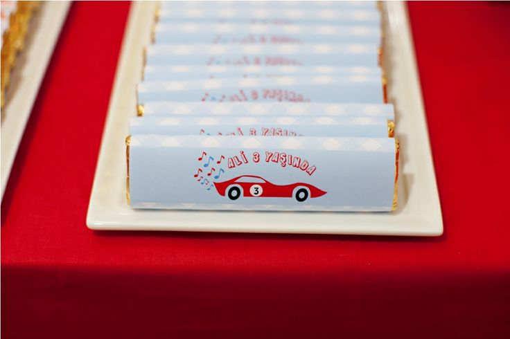 Mini red car party chocolates