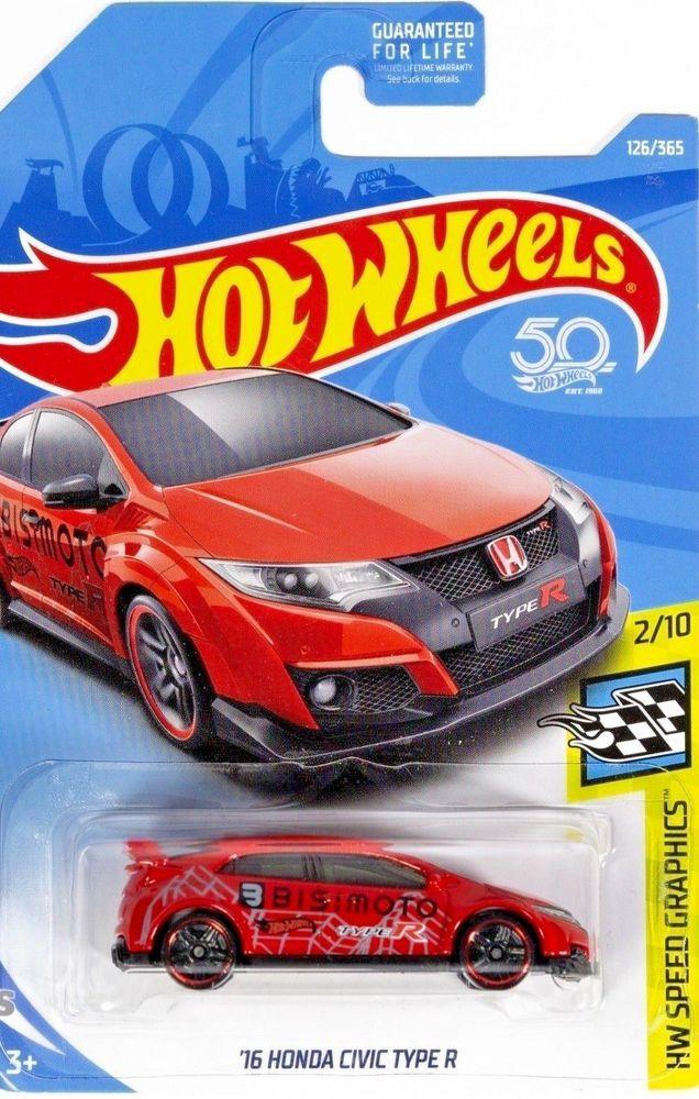 Hot Wheels 16 Honda Civic Type R Red Hw Speed Graphics 126 Hotwheels Honda