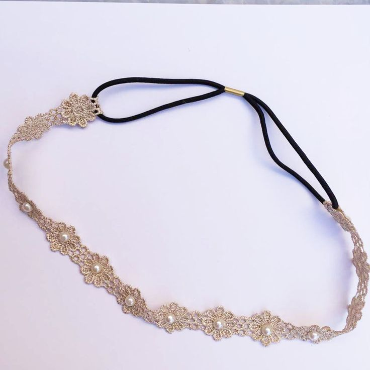 vintage bohemian ethnic vintage filigree lace flower with pearl elastic headband hair band hair accessories