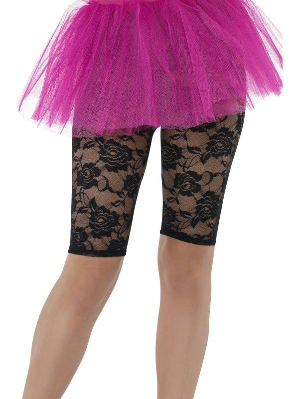 ff9808fbd4ff1 Smiffy's Women's 80's Black Lace Cycling Shorts Fancy Dress Costume  Accessory #Smiffys #PantsShorts