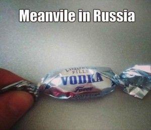 "VOOOOODDKKAAAAAA does that look familiar :)<<Notice its ""meanVhile"". Germany is explaining to Italy how Russia is weird."