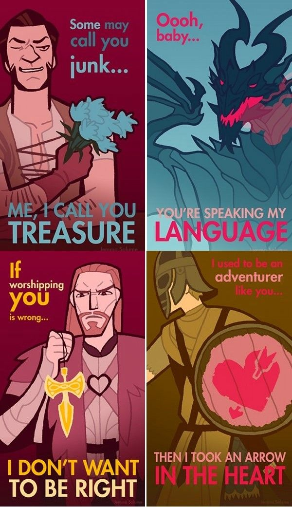 I don't play Skyrim, but these are still amusing and geeky. :D