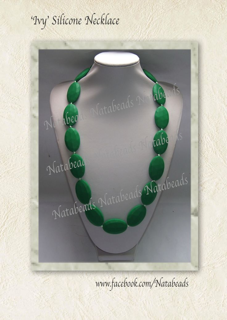 'Ivy' Silicone Necklace Available at www.facebook.com/Natabeads