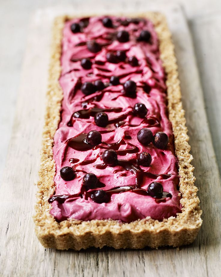 The bold flavours of blackcurrant, lime and coconut combine to this heavenly no-bake cheesecake slice.