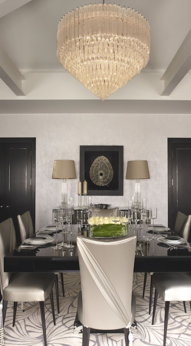 Dinning room Drama in Black and white