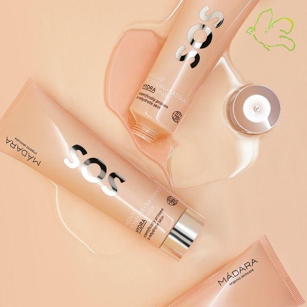 Le Masque Hydratant SOS Hydra de MADARA recharge la peau en ingrédients actifs performants afin de limiter la perte en eau. La peau est immédiatement repulpée et protégée. SOS Hydra MADARA, des soins visage complets haute performance conçus pour les peaux déshydratées et stressées.  Tube 60ml - 33€ #SOS #hydratation #madara #skincare #organic #cosmetics #soin #visage #peau #seche #stress #fatigue #masque