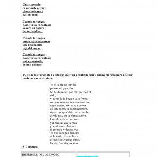 EJERCICIOS PARA PRACTICAR LA RIMA Y EL VERSO. 1- Señala el número de versos, el número de estrofas y el número de versos en cada estrofa. Gris y morado es m. http://slidehot.com/resources/ejercicios-para-practicar-la-rima-y-el-verso.48507/