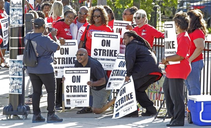 Chicago teachers strike began when talks broke down over issues including pay and teacher evaluation