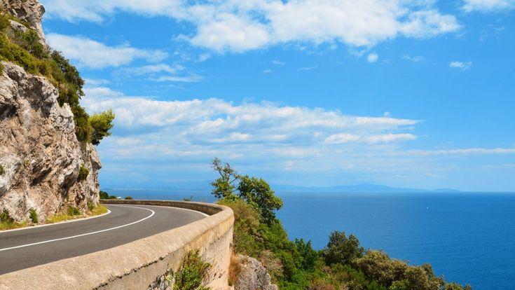 Дорога вдоль побережья Амальфи