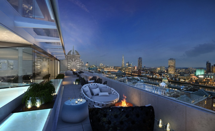 With 180-degree views of London's skyline, the Radio rooftop bar at Norman Foster's ME London hotel will be a model magnet at fashion week. Opens September 1  http://fashionfix.net-a-porter.com/magazine/culture-style-10