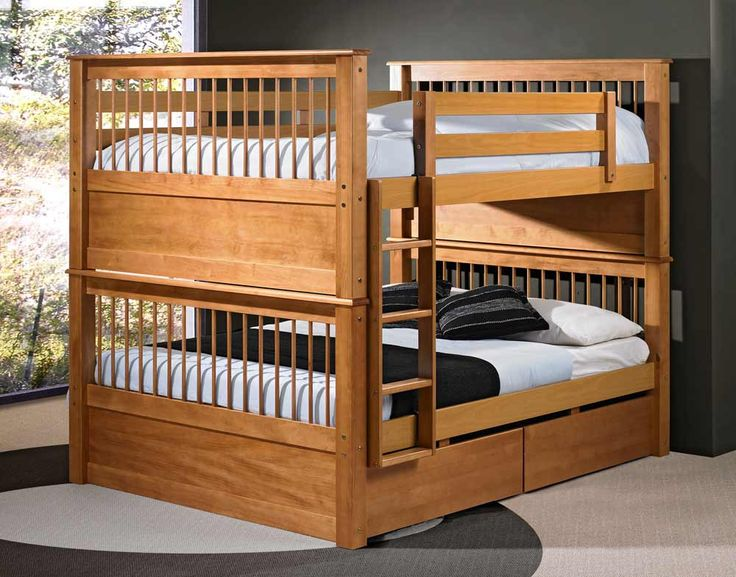 Solid Wood Bunk Beds Full Size I D Take The Foot Rails Off